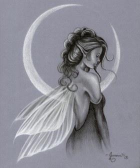 F e - Dessin ange noir et blanc ...